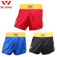 Wesing men Sanda wushu shorts blue red colors Martial Arts competition shorts