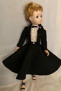 Black felt suit and blouse  for Madame Alexander Cissy doll