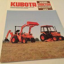 KUBOTA Diesel Tractor B8200HST 4WD Original 1985 Vintage Sales Brochure