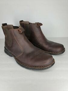 Clarks Men's Ignis Brown Oily Leather Pull-on Size 12M