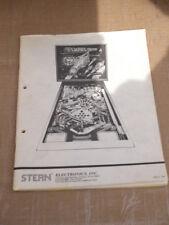 Manual de vuelo 2000 Original Pinball Flipper con esquemas de popa