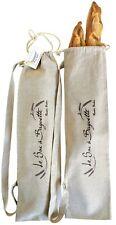 """Rustic Baker 100% Linen Baguette Bread Bag, Handmade, 2-PACK, 29.52"""" * 7.87"""""""