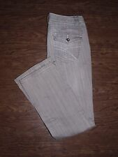 Inc Jeans Size 6p Womens Gray Regular Fit Boot Leg Jeans Bejewelled