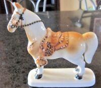 Palomino Horse Porcelain Ceramic Figure Made in Japan