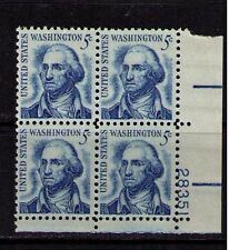 US USA Sc# 1283 MNH FVF PLATE # BLOCK  President George Washington Untagged