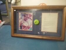 Collectable Tennis Ball Framed Signed Picture Anna Kournikova
