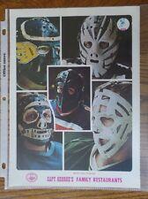 1974-75 CAPT. GEORGE'S World Hockey Association GOALIES with MASKS photo WHA