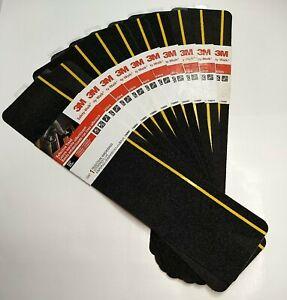 "3M Safety-Walk 6""x24"" Black, Reflective Stripe Anti-Slip Tread Step, Set of 10"