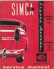 SIMCA Aronde 1200 & Elysee 1300 Berlina (1951 - 1963) Manuale Officina Proprietari