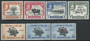 Bahawalpur 7 Very Good HM stamps of 1948 & 1949 one with overprint