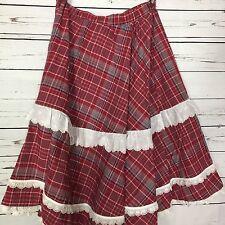Handmade Square Dance Cowgirl Prarie Circle Skirt 31 inch Elastic Waist Sz M