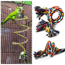 2019 Pet Bird Parrot Rope Parakeet Cage Standing Perch Chew Peck Toy 50cm
