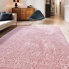 Teppich Vintage Design ROSA Für Wohnzimmer Hochwertig Modern Auch In OVAL  NEU
