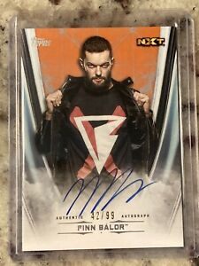 2020 Topps WWE Undisputed Finn Balor Orange Parallel On Card Auto 42/99 MINT!!!