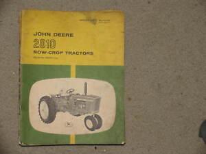 John Deere Tractor 2010 Operator's Manual