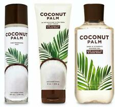Bath & Body Works COCONUT PALM Body Cream + Shower Gel + Fragrance Mist SET