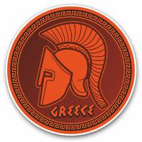 2 x Vinyl Stickers 7.5cm - Greek Spartan Helmet Greece Travel Cool Gift #19243