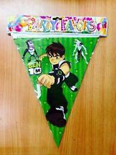 ♛ Shop8 : 1 pc BEN 10 BANDERITAS FLAG BANNER Theme Party Decor Needs