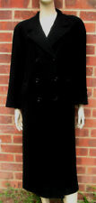 Bhs Rich wool/cashmere blend black ladies long coat PETITE UK size 14 EU size 42