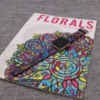Floral Apple Watch Strap Compatible With Apple Watch 6 SE 5 4 3 iWatch Band