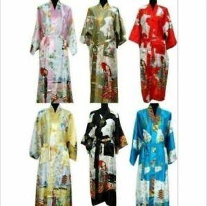 2019 Oriental Chinese Kimono Style Dressing Gown Bath Robe Pajamas