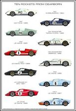 Ten GT- 40 Rockets from Dearborn History Car Poster:>)!