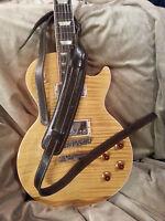 SLASH Vintage Style leather adjustable guitar strap in Dk Brown!! USA SHIPPING!!