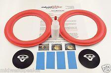 """Cerwin Vega RE-20 - 8"""" Woofer Refoam Speaker Kit w/ Shims & CV Logo Dust Caps!"""