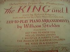 The King And I-Piano Arrangements-Richard Rodgers/William Stickles box b1a