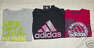 Boys Adidas TShirts 3 to Choose From Sizes 6, or M 10-12 NWT