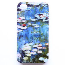 Claude Monet Water Lilies Design Pattern iPhone 4 4S Hard Back Case Cover #L63
