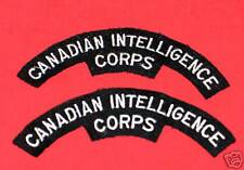 CANADIAN INTELLIGENCE CORPS Cloth Shoulder Flashes