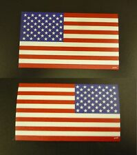 """USA FLAG RED + BLUE PCX SET 1 FWD 1 REV  3.5"""" x 2"""" WITH VELCRO® BRAND FASTENER"""