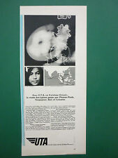 5/1968 PUB COMPAGNIE AERIENNE UTA AIRLINE INDONESIA BALI COLOMBO FRENCH AD