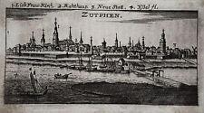 Zutphen  Netherlands Nordsee echter alter  Kupferstich Riegel 1680