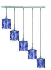 Elegant Lighting 1285D-O-S-SA Mini 5-Light Crystal Pendant Chandelier