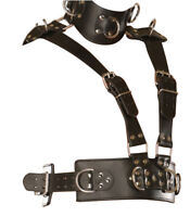 MEN'S GENUINE LEATHER BODY HARNESS ROMAN REAL LEATHER FULL BODY HARNESS
