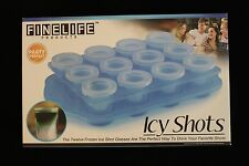 FineLine Products ICY SHOTS 12 Shot Molds With 1 Serving Tray