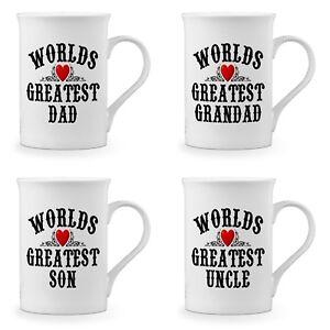 Worlds Greatest Novelty Gift Fine Bone China Mug - Male Titles