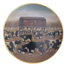 Spring Pasture American Folk Art Lowell Herrero Franklin Mint Country Cow Plate