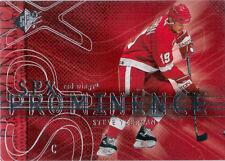 2000-01 SPx YZERMAN Prominence SP #86 Detroit Red Wings Short Print UD STEVE