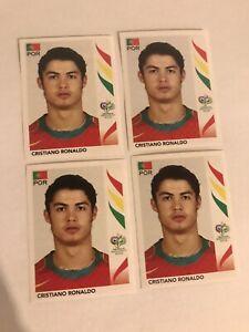PANINI WC GERMANY 2006 # 298 CRISTIANO RONALDO  (4 STICKERS)