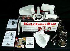 Kitchen Aid Mixer 3 Attachment Pack | Grinder/Slicer Shredder/Strainer EX/NM