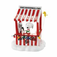 Dept 56 Peanuts Christmas Village Snoopys Cocoa Stand with Woodstock 4053055