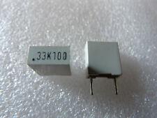 2 condensateurs 0,33uF 330nF 250V 5/% Philips MKP-370