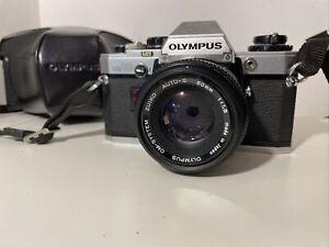 Olympus OM10 Vintage SLR Camera & Olympus 50mm Lens, Untested - Nice Condition
