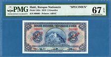 Haiti, 2 Gourdes, 00000 specimen, 1919, Superb Gem UNC-PMG67EPQ, P161s
