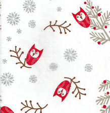 Winter Owls & Silver Snowflakes Tissue Paper # 725 -:¦:- 10 Large Sheets