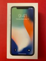 RETAIL BOX ONLY: iPhone X 64GB Silver w/ inserts NO PHONE, NO CHARGER
