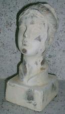 Büste FrauShabby Nostalgie Deko Garten Valo Creme/Weiß 24*10cm